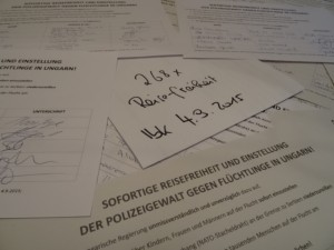 Protestpetition-Reisefreiheit